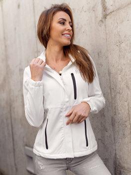 Bílá dámská přechodová softshellová bunda Bolf HH028