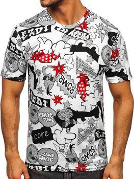 Bílé pánské tričko s potiskem Bolf 14917