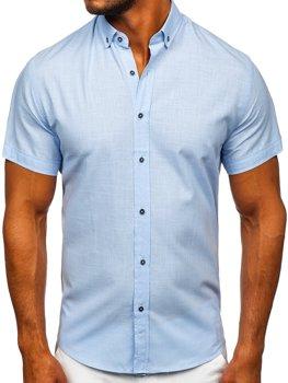 Blankytná pánská košile s krátkým rukávem Bolf 20501