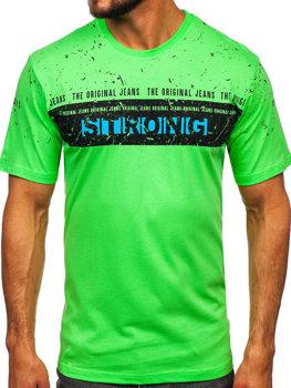 Celadonové pánské tričko s potiskem Bolf 14204