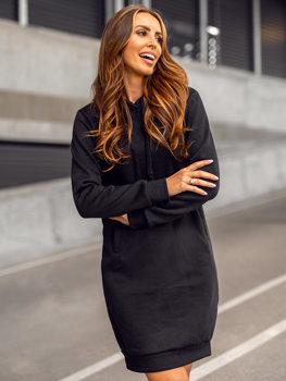 Černá dámská dlouhá mikina s kapucí Bolf YS10005