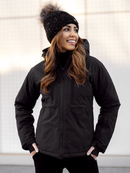 Černá dámská zimní lyžařská bunda Bolf HH012
