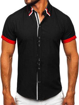 Černá pánská elegantní košile s krátkým rukávem Bolf 2926 aa7404e1ee