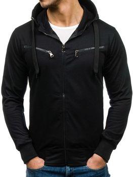 Černá pánská mikina s kapucí Bolf 7080