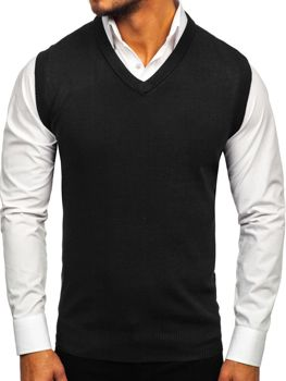 Černá pánská pletená vesta Bolf W01