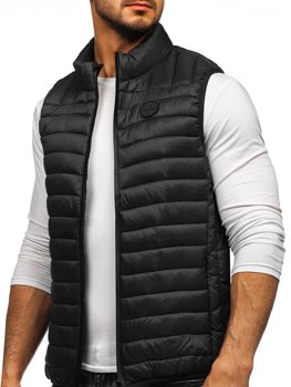 Černá pánská prošívaná vesta Bolf 58M891