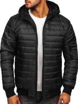 Černá pánská sportovní přechodová bunda Bolf MY13