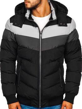 Černá pánská zimní bunda Bolf 5808