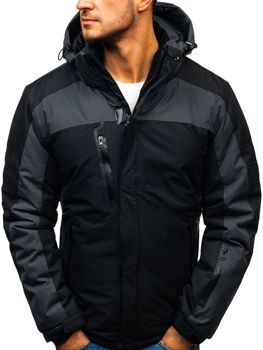 Černá pánská zimní lyžářská bunda Bolf HZ8112
