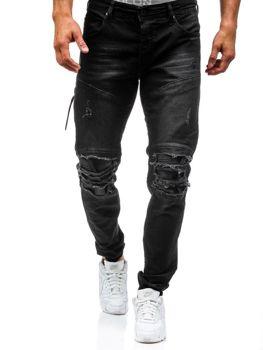 Černé pánské džínové jogger kahoty Bolf 457