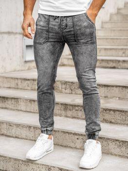 Černé pánské džínové jogger kahoty Bolf KA1860-1