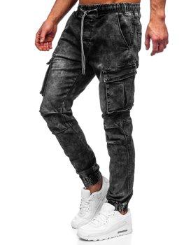 Černé pánské džínové jogger kapsáče Bolf TF055