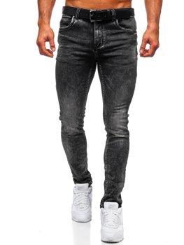 Černé pánské džíny regular fit s paskem Bolf 30035W0
