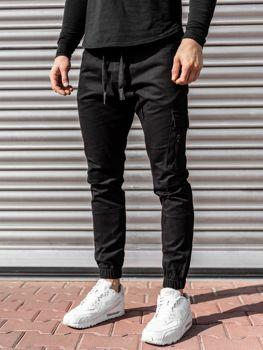 Černé pánské jogger kalhoty Bolf 11104