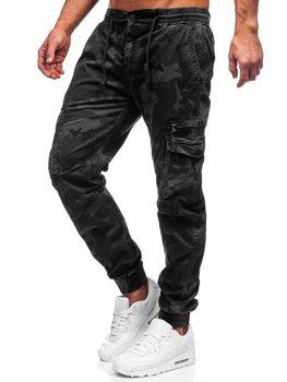 Černé pánské jogger kapsáče Bolf CT6026S0