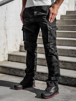 Černé pánské kapsáče s páskem Bolf 2096