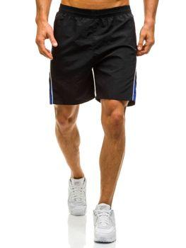 Černé pánské plavecké šortky Bolf WK13