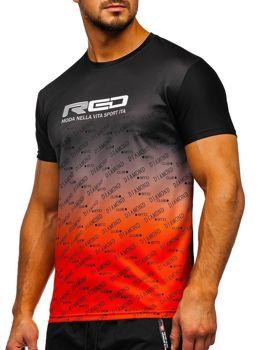 Černé pánské sportovní tričko s potiskem Bolf KS2064