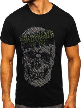 Černé pánské tričko s potiskem Bolf KS2108