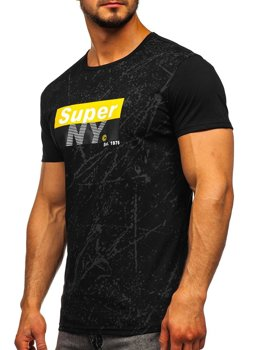Černé pánské tričko s potiskem Bolf SS11100
