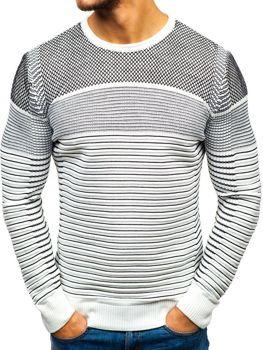 Černo-bílý pánský svetr Bolf 1015