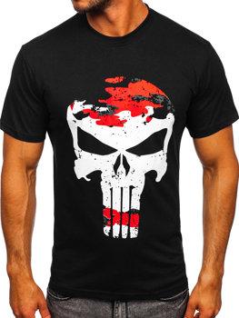 Černo-červené pánské tričko s potiskem Bolf 2098