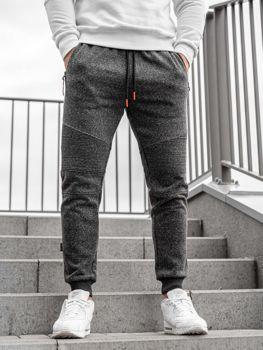 Černo-oranžové pánské jogger tepláky Bolf Q3770
