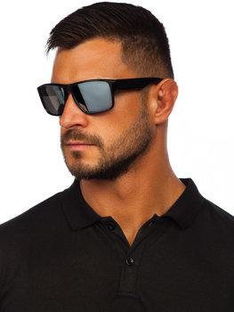 Černo-stříbrné pánské sluneční brýle Bolf PLS4