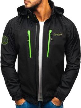 ?erno-zelená pánská softshellová bunda Bolf P132