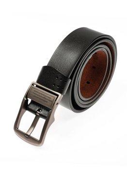 Černý pánský kožený pásek Bolf P007