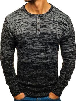 Černý pánský svetr Bolf H1821