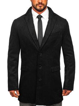 Černý pánský zimní kabát Bolf 1047