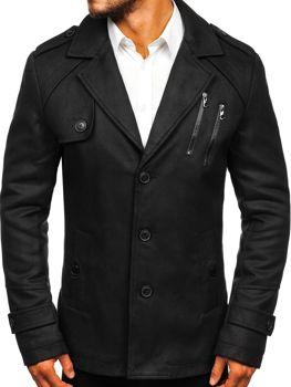 55cc147ba67 Černý pánský zimní kabát Bolf 3135