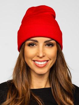 Červená dámská zimní čepice Bolf YW09004