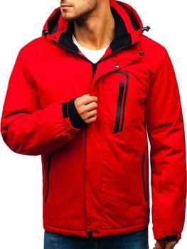 Červená pánská zimní lyžářská bunda Bolf HZ8107