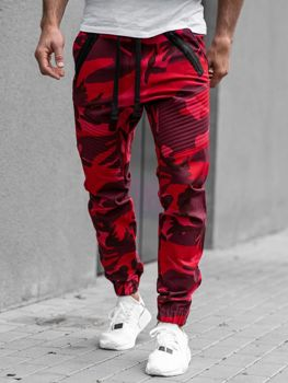 Červené pánské jogger kalhoty Bolf 0952