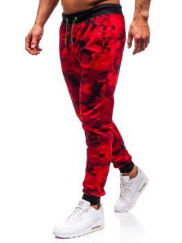 Červené pánské maskáčové jogger tepláky Bolf MK19