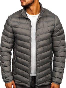 Grafitová pánská sportovní zimní bunda Bolf SM70