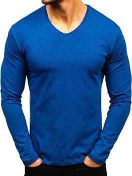 Indigo pánské tričko s dlouhým rukávem bez potisku Bolf 172008