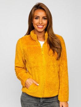 Kamelová dámská fleecová bunda Bolf HH006