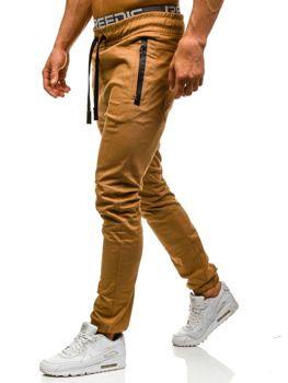 Kamelové pánské jogger kalhoty Bolf 0803