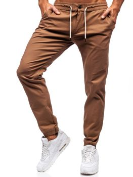 Kamelové pánské jogger kalhoty Bolf 1121