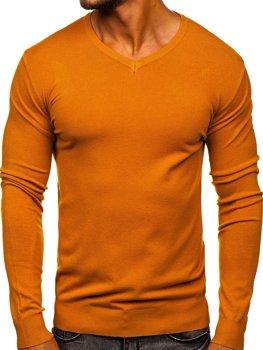 Kamelovy pánsky svetr s vyst?ihem do V Bolf YY03