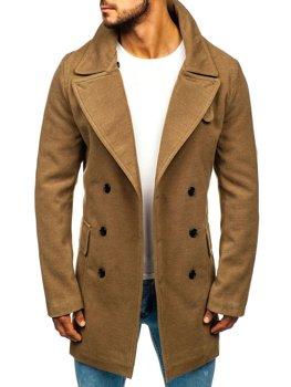 Kamelový pánský zimní kabát Bolf 1048-A