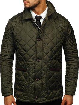 Khaki pánská elegantní přechodová husky bunda Bolf 0003