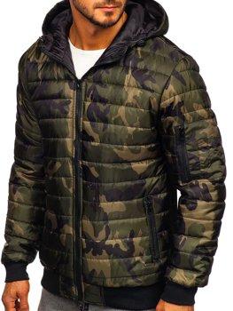 Khaki pánská maskáčová sportovní přechodová bunda Bolf MY13M