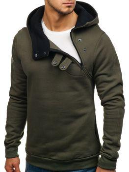 Khaki pánská mikina s kapucí Bolf 06S