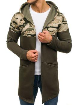 Khaki pánská mikina s kapucí Bolf 9117