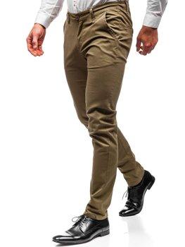 70cadca0ad Khaki pánské chino kalhoty Bolf 2901
