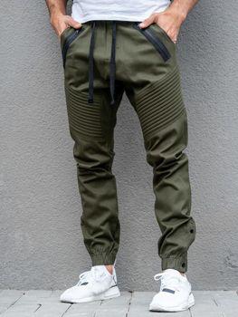 Khaki pánské jogger kalhoty Bolf 0952